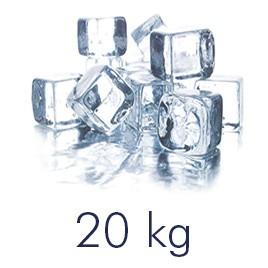 Tempex doos met ijsblokjes 20 kilo