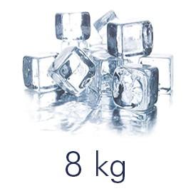 Zak met ijsblokjes van 8 kilo