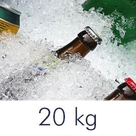 Tempex doos met crushed ice 20 kilo