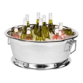 Wijnkoeler met ijsblokjes